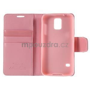 Elegantní peněženkové pouzdro na Samsung Galaxy S5 - růžové - 7