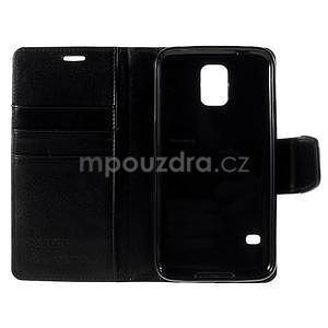 Elegantní peněženkové pouzdro na Samsung Galaxy S5 - černé - 7
