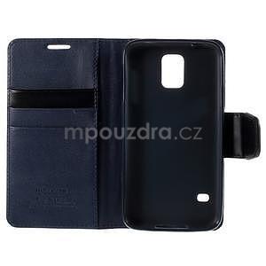 Elegantní peněženkové pouzdro na Samsung Galaxy S5 - tmavěmodré - 7