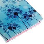 Ochranné koženkové pouzdro na Samsung Galaxy Tab E 9.6 - modrá pampeliška - 7/7