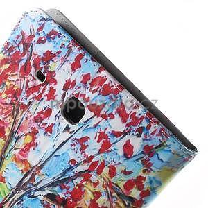 Ochranné koženkové pouzdro na Samsung Galaxy Tab E 9.6 - strom - 7