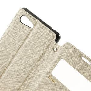 Peněženkové pouzdro s okýnkem na Sony Xperia E3 - bílé - 7