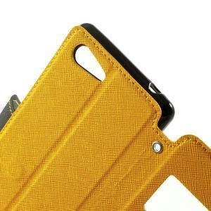 Peněženkové pouzdro s okýnkem na Sony Xperia E3 - žluté - 7