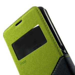 Peněženkové pouzdro s okýnkem na Sony Xperia E3 - zelené - 7