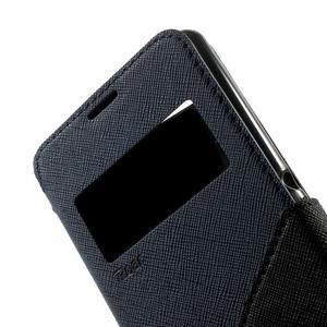 Peněženkové pouzdro s okýnkem na Sony Xperia E3 - tmavěmodré - 7