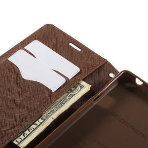 Richmercury pouzdro na mobil Sony Xperia E3 - černé/hnědé - 7