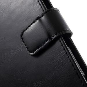 Moon PU kožené pouzdro na mobil Sony Xperia M4 Aqua - černé - 7