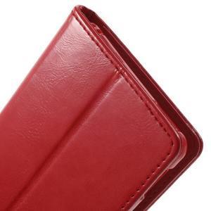 Moon PU kožené pouzdro na mobil Sony Xperia M4 Aqua - červené - 7