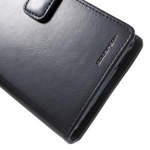 Moon PU kožené pouzdro na mobil Sony Xperia M4 Aqua - tmavěmodré - 7
