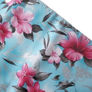 Květinkové pouzdro na mobil Sony Xperia M4 Aqua - modré - 7