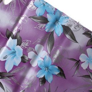 Květinkové pouzdro na mobil Sony Xperia M4 Aqua - fialové - 7