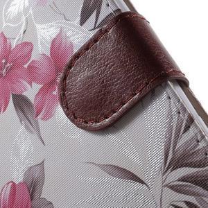 Květinkové pouzdro na mobil Sony Xperia M4 Aqua - bílé - 7