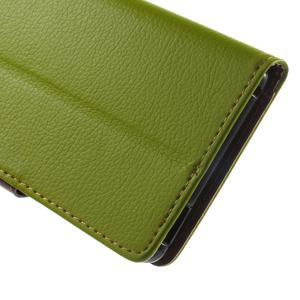 Leaf PU kožené pouzdro na mobil Sony Xperia M4 Aqua - zelené - 7