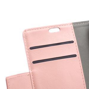 Horse PU kožené pouzdro na Sony Xperia X - růžové - 7