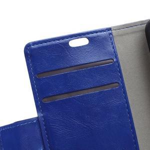 Horse PU kožené pouzdro na Sony Xperia X - modré - 7