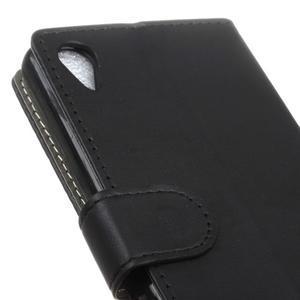 Walle peěnženkové pouzdro na Sony Xperia X - černé - 7