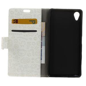 Cartoo peněženkové pouzdro na Sony Xperia X - bílé - 7
