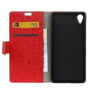 Cartoo peněženkové pouzdro na Sony Xperia X - červené - 7