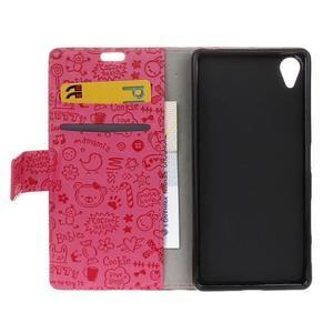 Cartoo peněženkové pouzdro na Sony Xperia X - rose - 7
