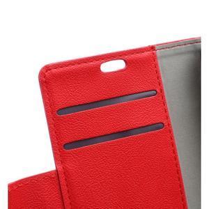 Grain koženkové pouzdro na Sony Xperia X - červené - 7
