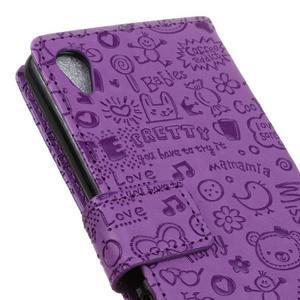 Cartoo pěněženkové pouzdro na Sony Xperia X Performance - fialové - 7
