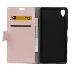 Horse Peňaženkové puzdro pre Sony Xperia X Performance - ružové - 7