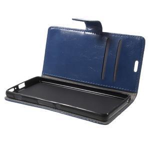 Horse PU kožené pouzdro na mobil Sony Xperia XA - modré - 7