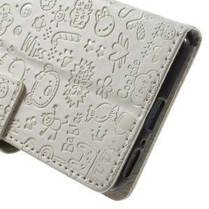 Cartoo peněženkové pouzdro na mobil Sony Xperia XA - bílé - 7