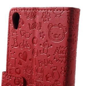 Cartoo peněženkové pouzdro na mobil Sony Xperia XA - červené - 7