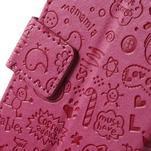 Cartoo peněženkové pouzdro na mobil Sony Xperia XA - rose - 7/7