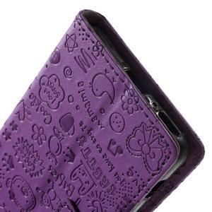 Cartoo peněženkové pouzdro na mobil Sony Xperia XA - fialové - 7