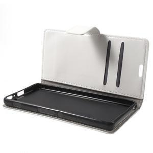 Horse PU kožené pouzdro na mobil Sony Xperia XA - bílé - 7