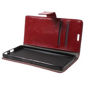 Horse PU kožené pouzdro na mobil Sony Xperia XA - červené - 7