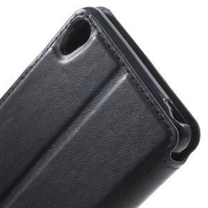 Royal PU kožené pouzdro s okýnkem na Sony Xperia XA - tmavěmodré - 7