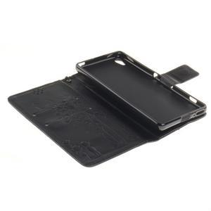 Dandely PU kožené pouzdro na mobil Sony Xperia XA - černé - 7