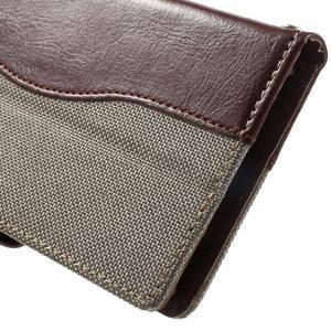 Jeansy PU kožené/textilní pouzdro na Sony Xperia XA - šedé - 7