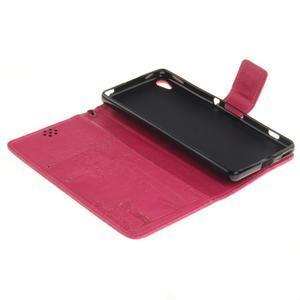 Dandely PU kožené pouzdro na mobil Sony Xperia XA - rose - 7