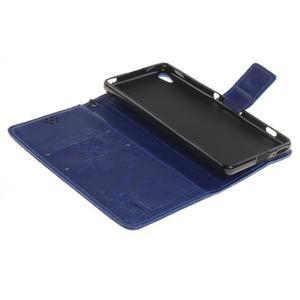 Dandely PU kožené pouzdro na mobil Sony Xperia XA - modré - 7