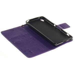 Dandely PU kožené pouzdro na mobil Sony Xperia XA - fialové - 7