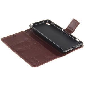 Dandely PU kožené pouzdro na mobil Sony Xperia XA - hnědé - 7