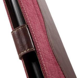 Jeansy PU kožené/textilní pouzdro na Sony Xperia XA - rose - 7