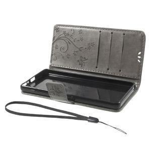 Butterfly pouzdro na mobil Sony Xperia XA - šedé - 7