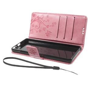 Butterfly pouzdro na mobil Sony Xperia XA - růžové - 7