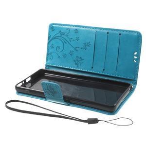 Butterfly pouzdro na mobil Sony Xperia XA - modré - 7