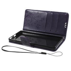 Butterfly pouzdro na mobil Sony Xperia XA - tmavěfialové - 7