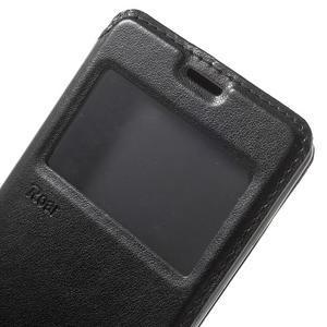 Royal PU kožené pouzdro s okýnkem na Sony Xperia XA - černé - 7