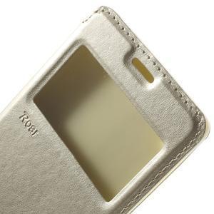 Royal PU kožené pouzdro s okýnkem na Sony Xperia XA - zlaté - 7