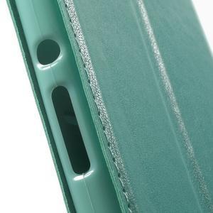 Royal PU kožené pouzdro s okýnkem na Sony Xperia XA - azurové - 7