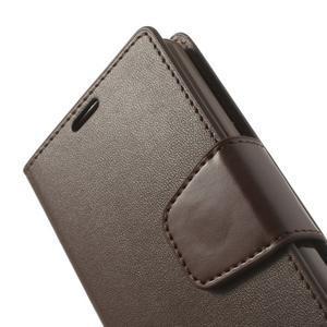 Sonata PU kožené pouzdro na mobil Sony Xperia Z1 Compact - coffee - 7