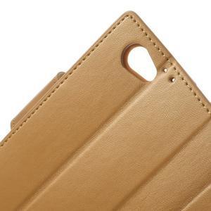 Sonata PU kožené pouzdro na mobil Sony Xperia Z1 Compact - hnědé - 7